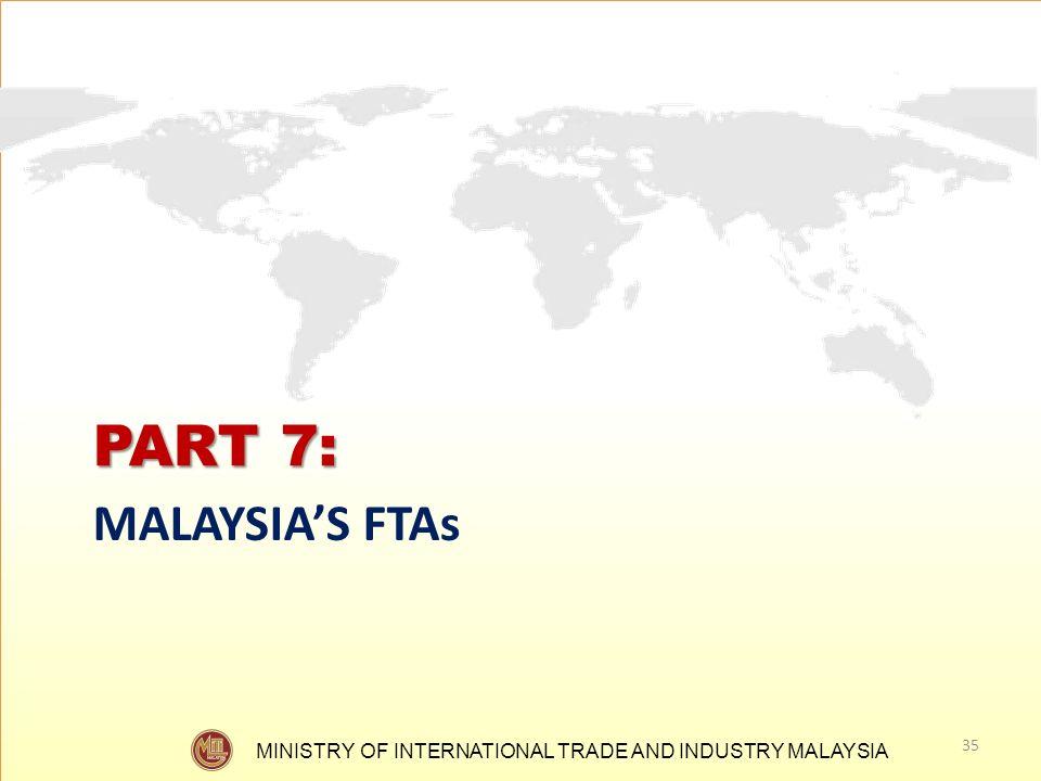 PART 7: MALAYSIA'S FTAs