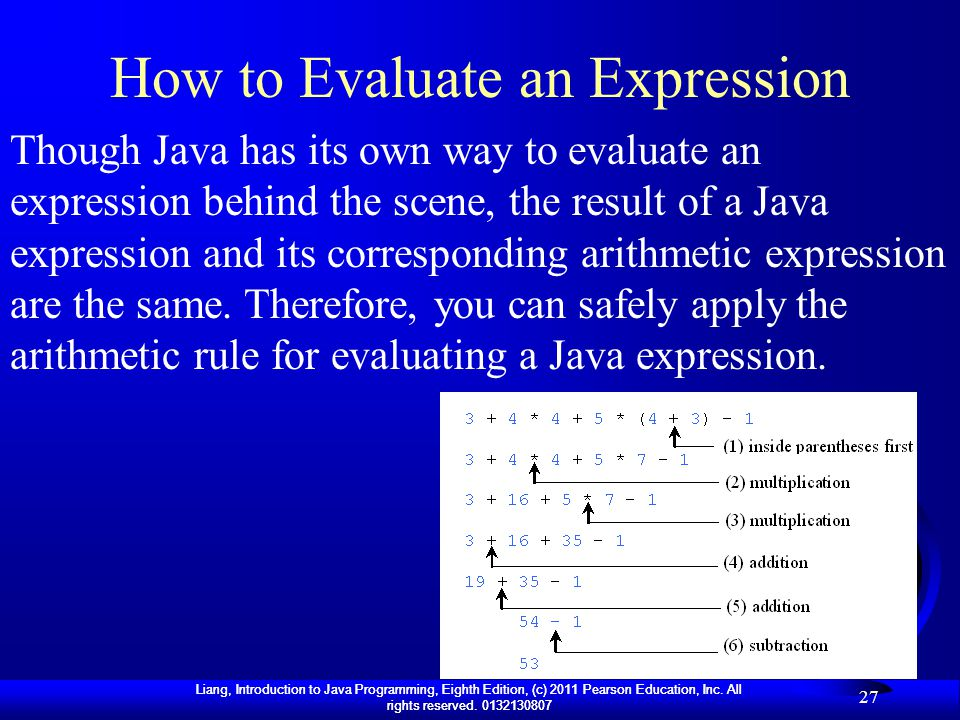 How to Evaluate an Expression