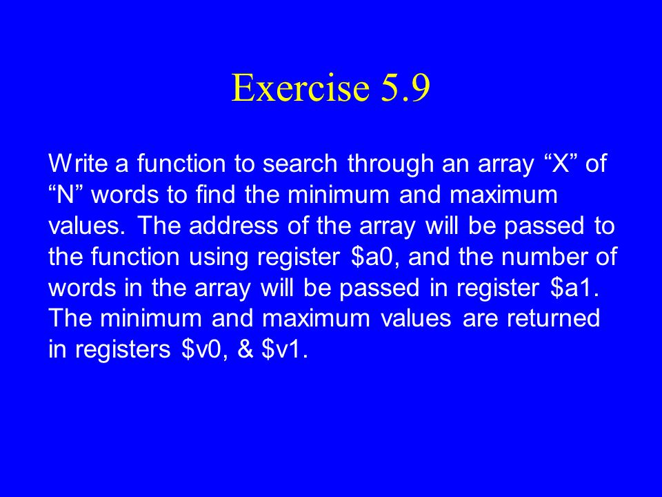 Exercise 5.9