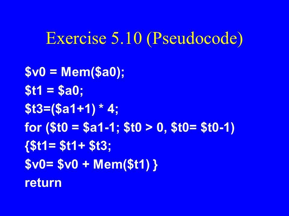 Exercise 5.10 (Pseudocode)