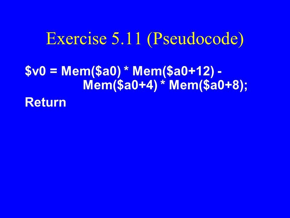 Exercise 5.11 (Pseudocode)