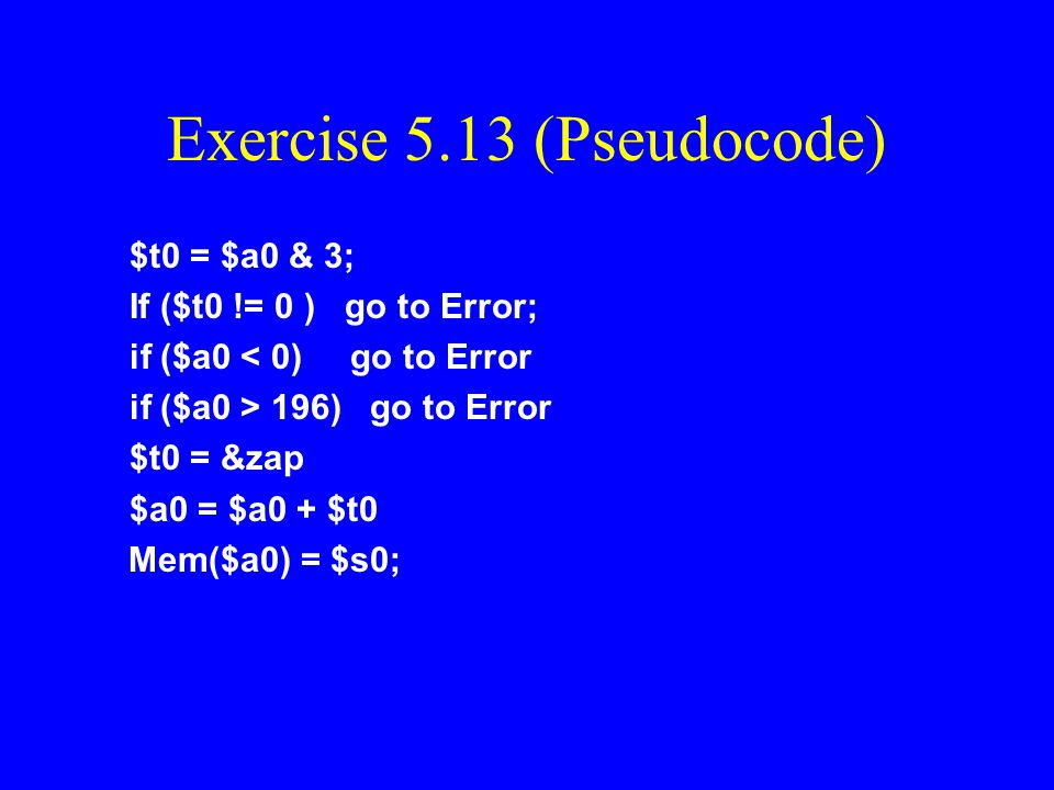 Exercise 5.13 (Pseudocode)