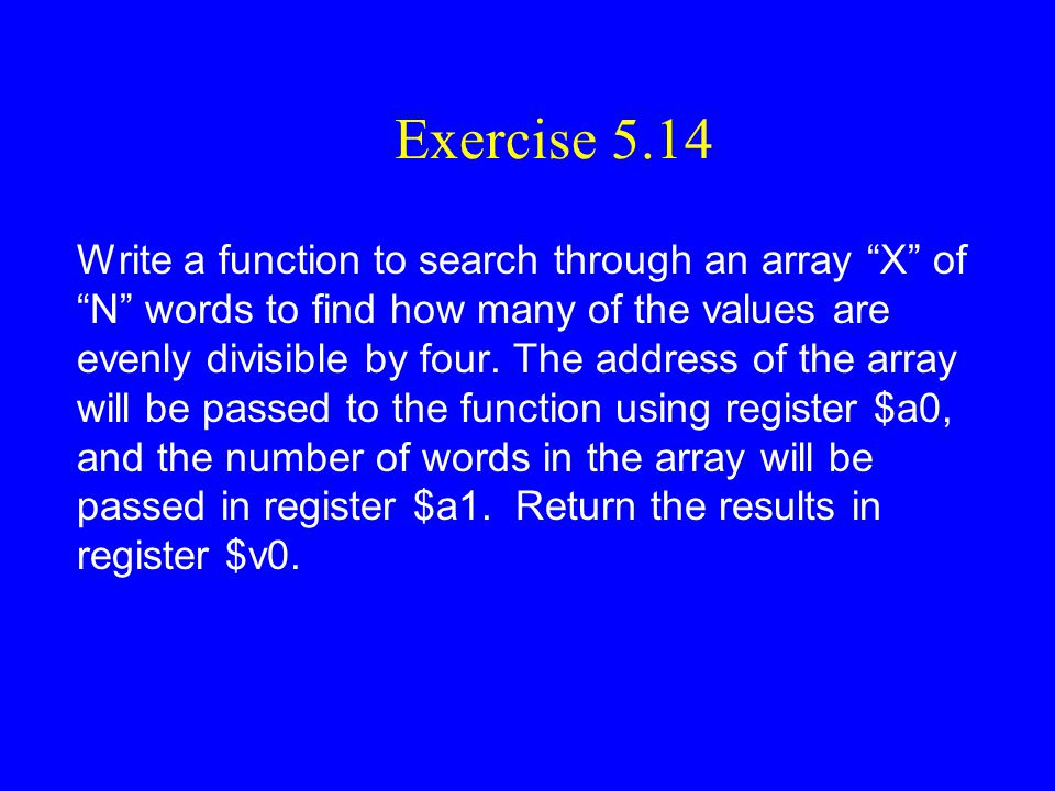 Exercise 5.14