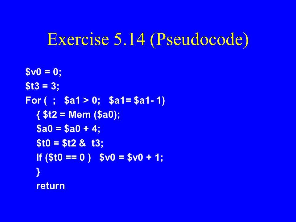 Exercise 5.14 (Pseudocode)