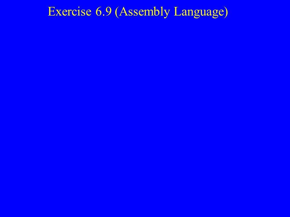 Exercise 6.9 (Assembly Language)