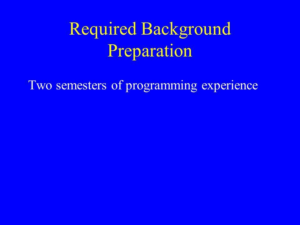 Required Background Preparation