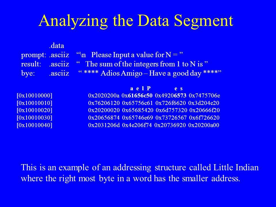 Analyzing the Data Segment