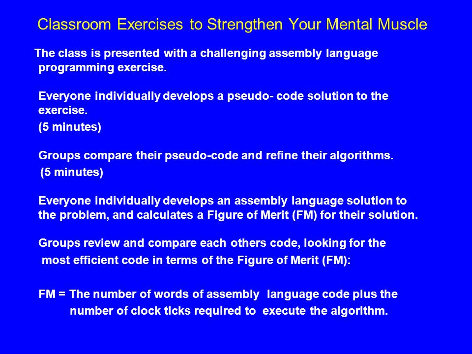 Classroom Exercises to Strengthen Your Mental Muscle