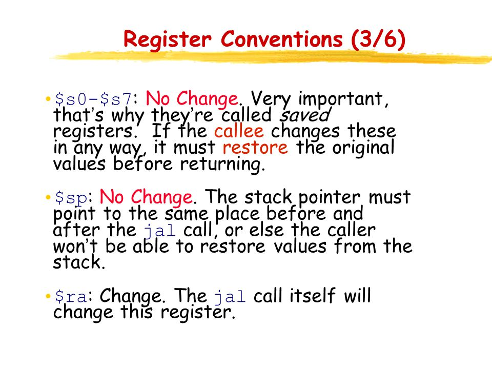 Register Conventions (3/6)