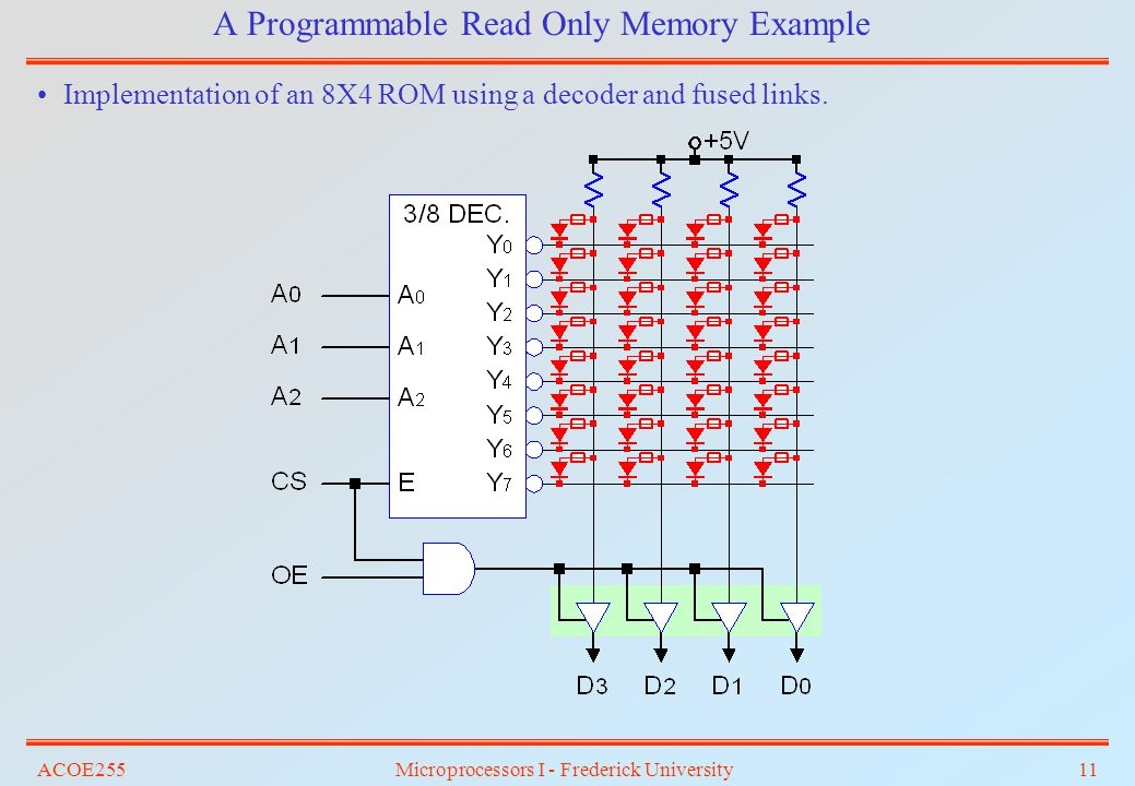 A Programmable Read Only Memory Example