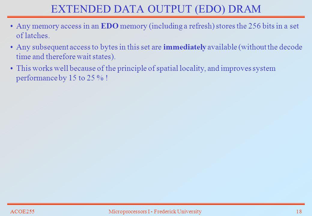 EXTENDED DATA OUTPUT (EDO) DRAM