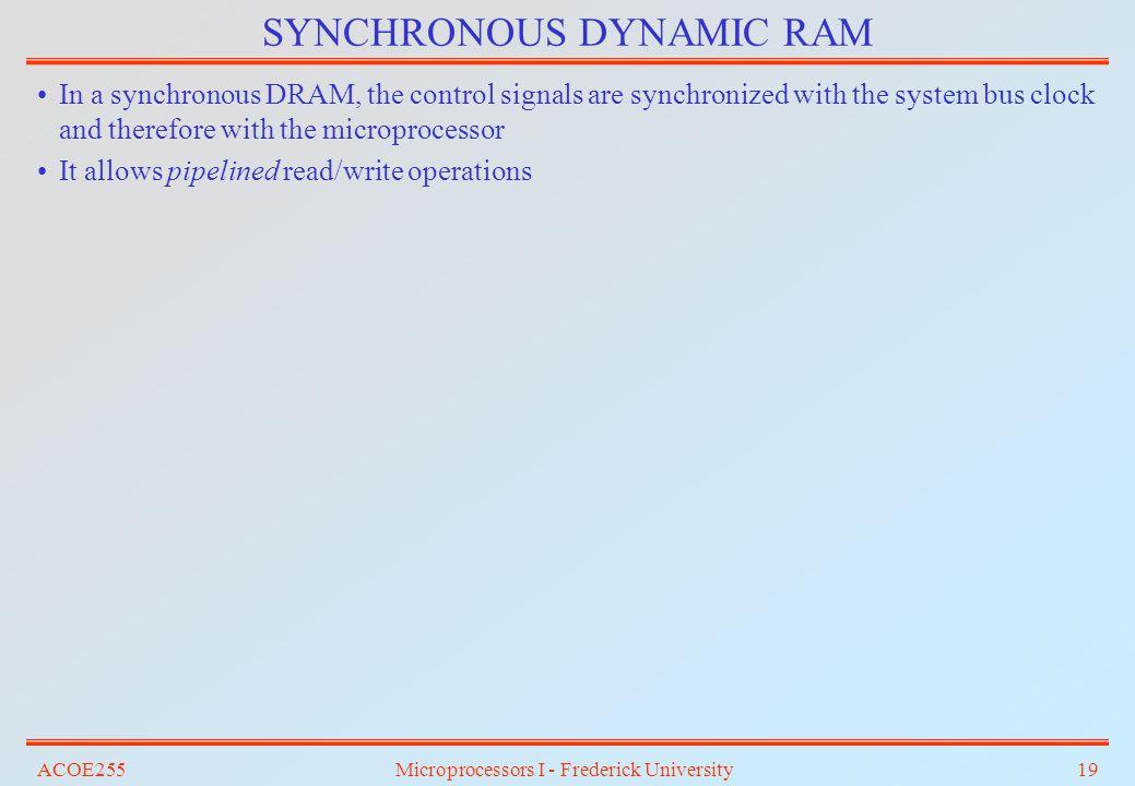 SYNCHRONOUS DYNAMIC RAM
