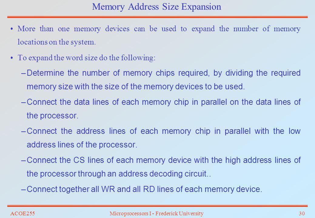 Memory Address Size Expansion