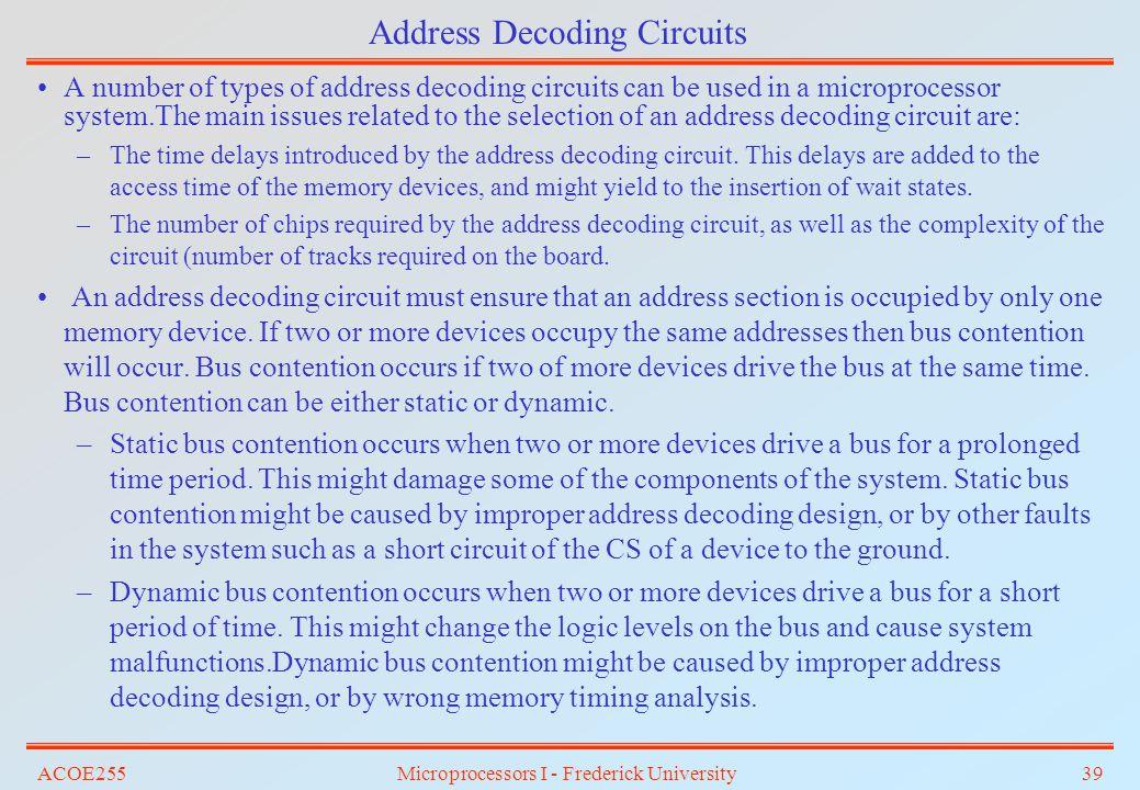 Address Decoding Circuits