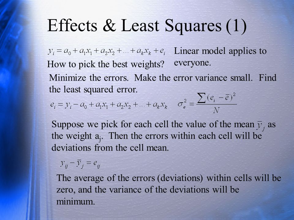 Effects & Least Squares (1)