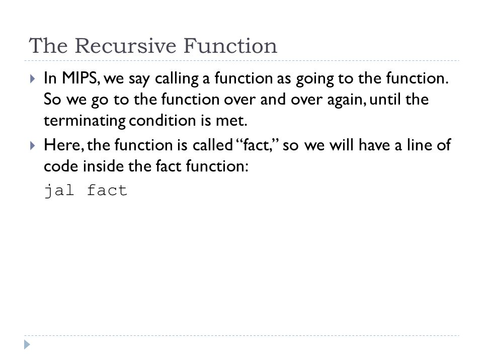 The Recursive Function