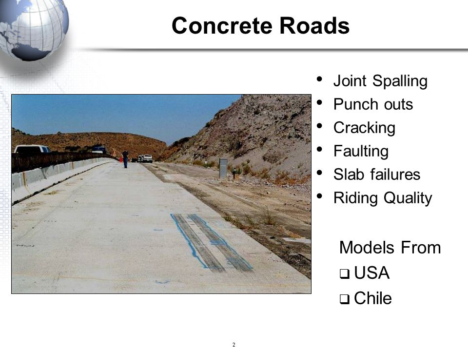 Concrete Roads Models From USA Chile Joint Spalling Punch outs