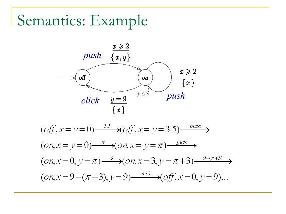 Semantics: Example push push click