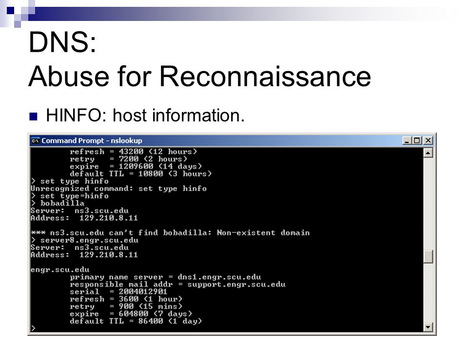 DNS: Abuse for Reconnaissance