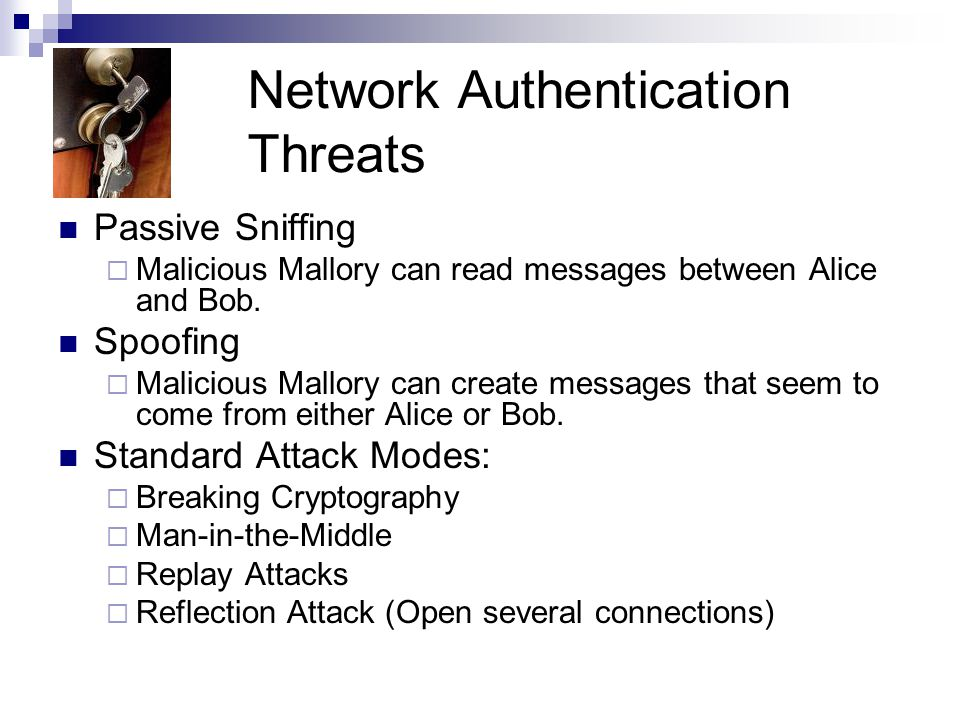 Network Authentication Threats