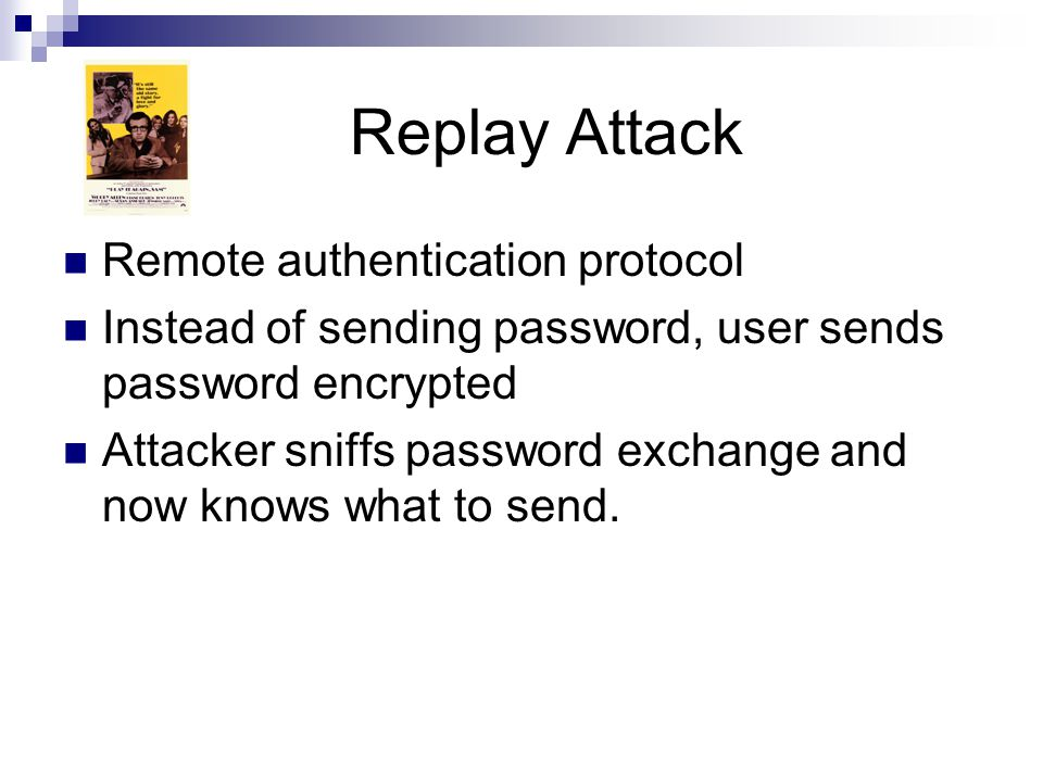 Replay Attack Remote authentication protocol
