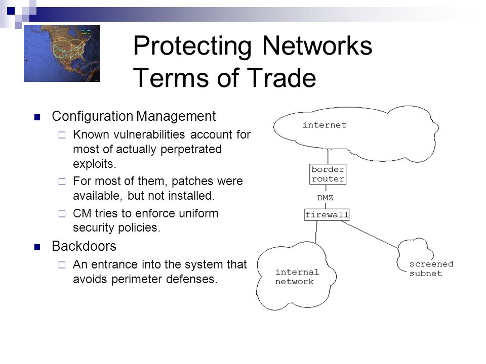 Protecting Networks Terms of Trade