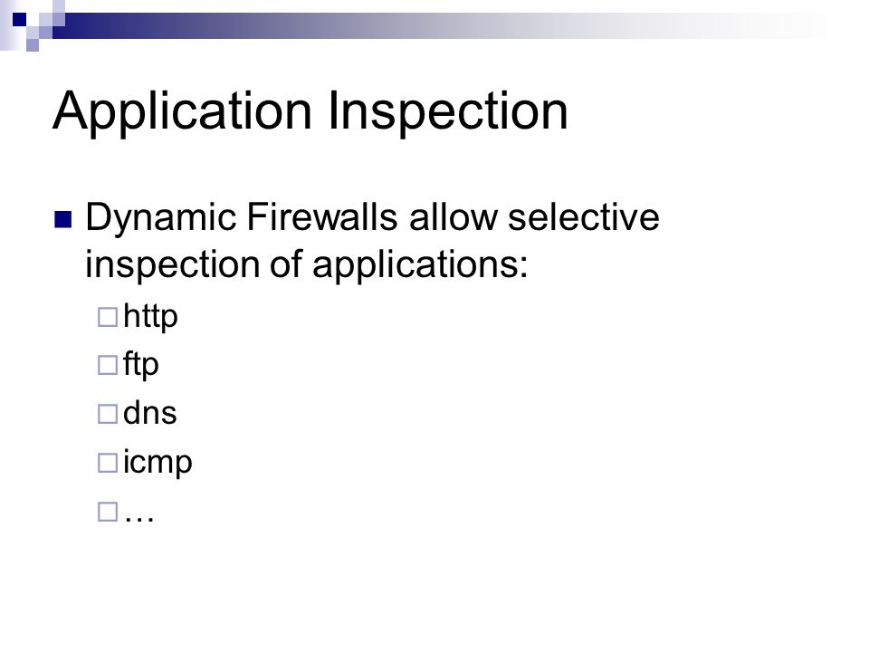 Application Inspection