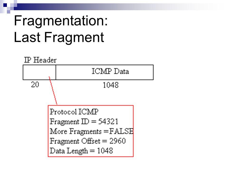 Fragmentation: Last Fragment
