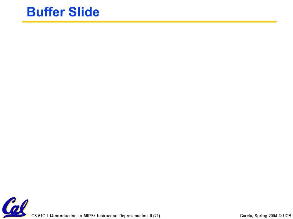 Buffer Slide