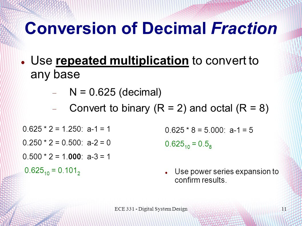 Conversion of Decimal Fraction