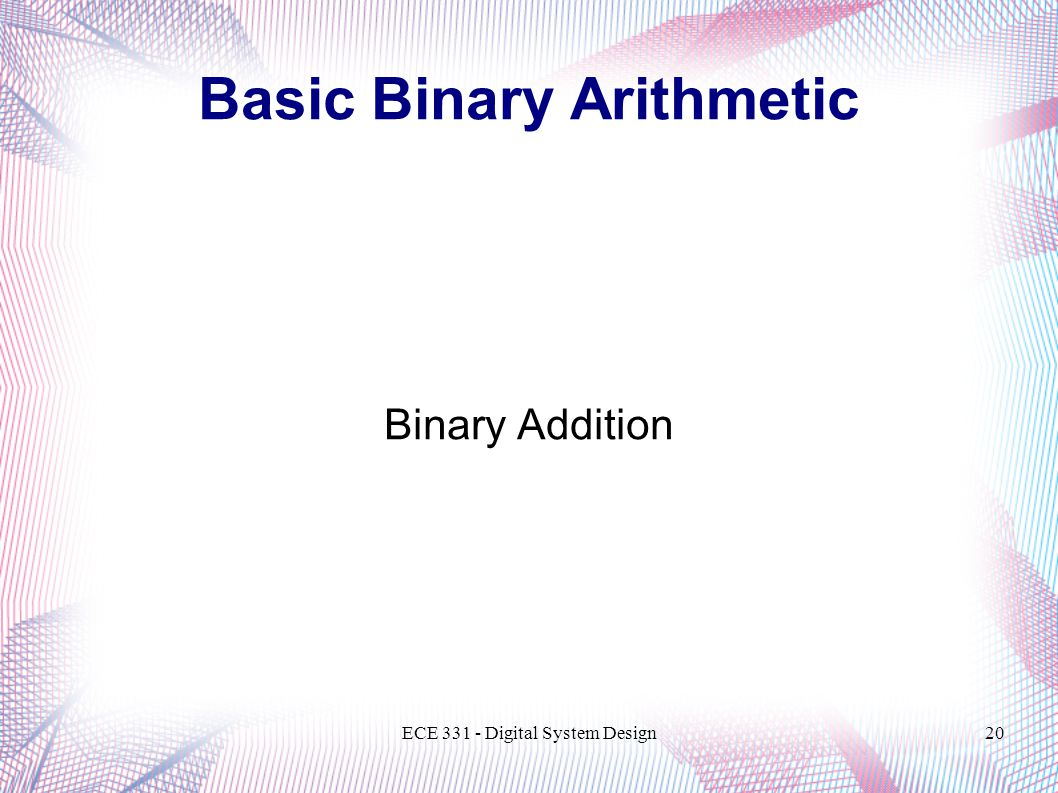 Basic Binary Arithmetic