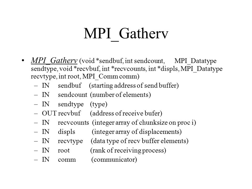 MPI_Gatherv