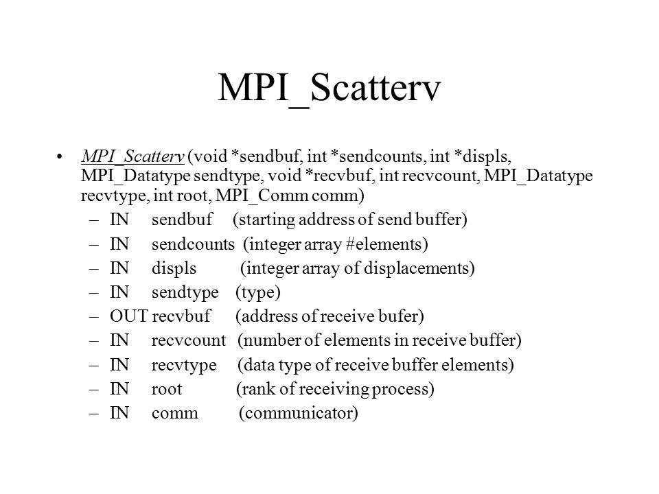 MPI_Scatterv