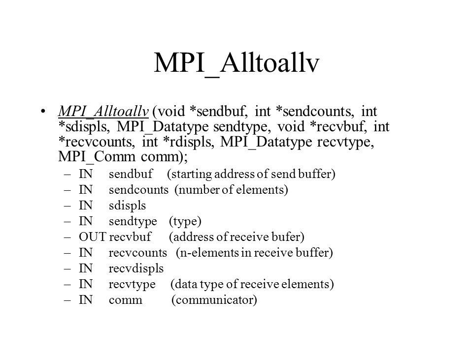 MPI_Alltoallv