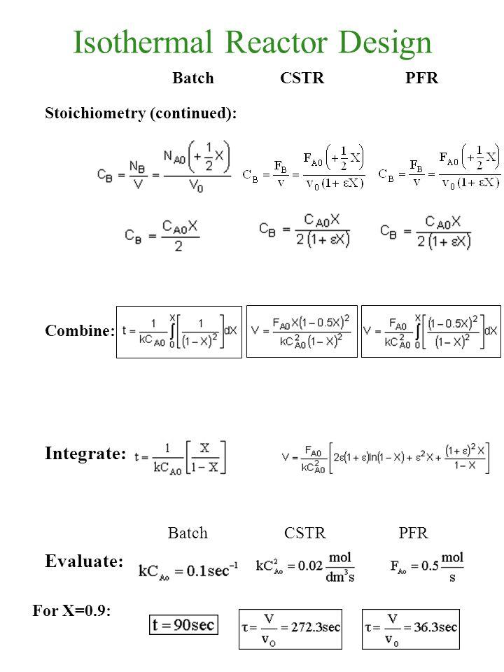 Isothermal Reactor Design