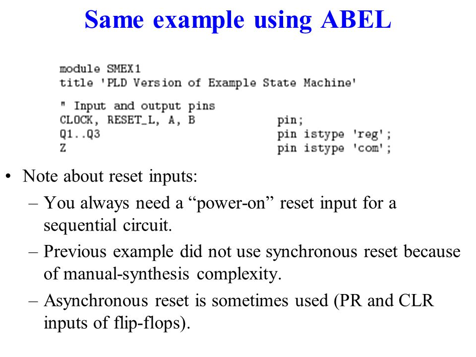 Same example using ABEL