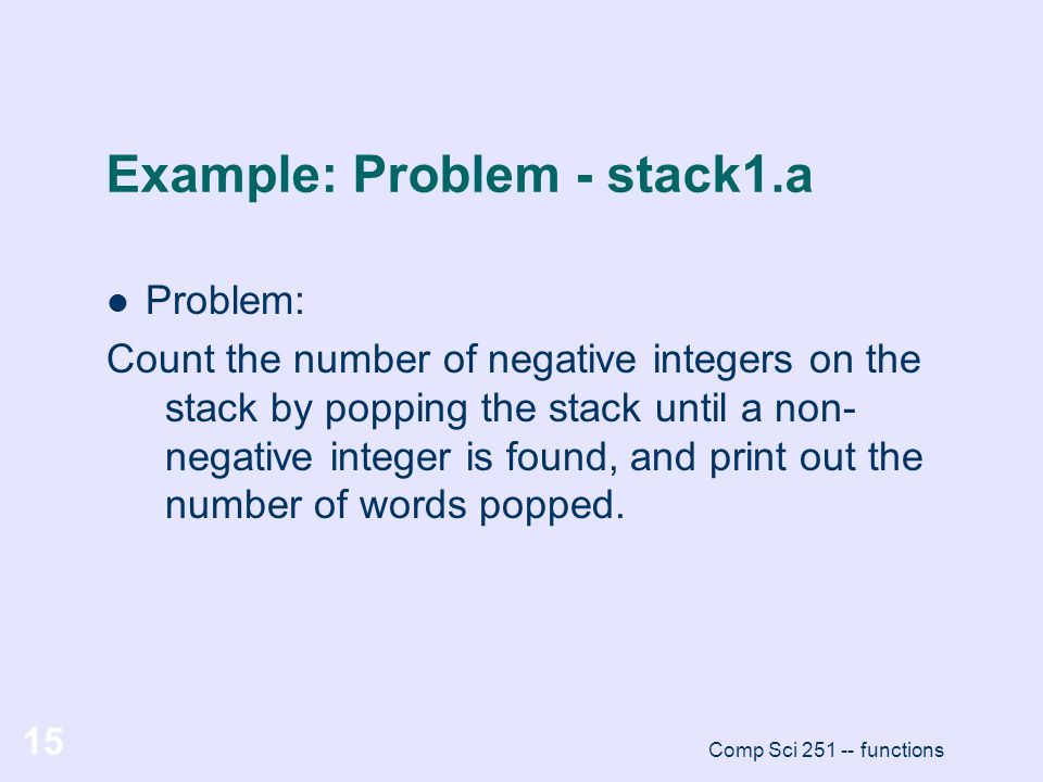 Example: Problem - stack1.a