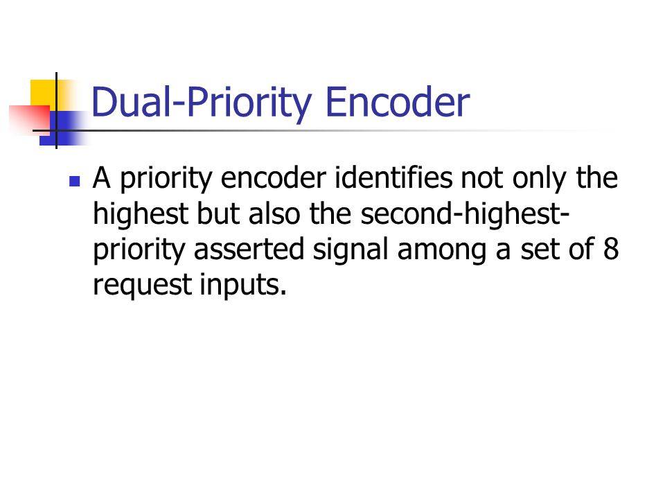 Dual-Priority Encoder