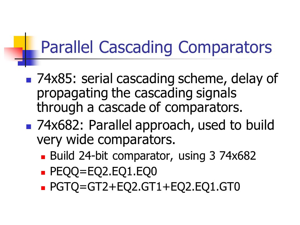 Parallel Cascading Comparators