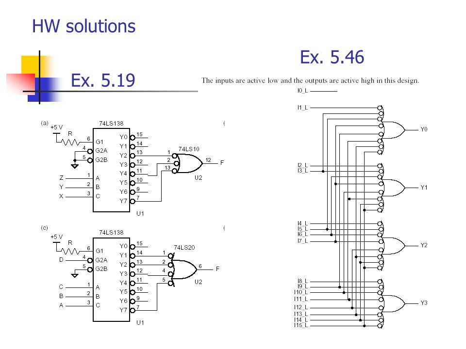 HW solutions Ex. 5.46 Ex. 5.19
