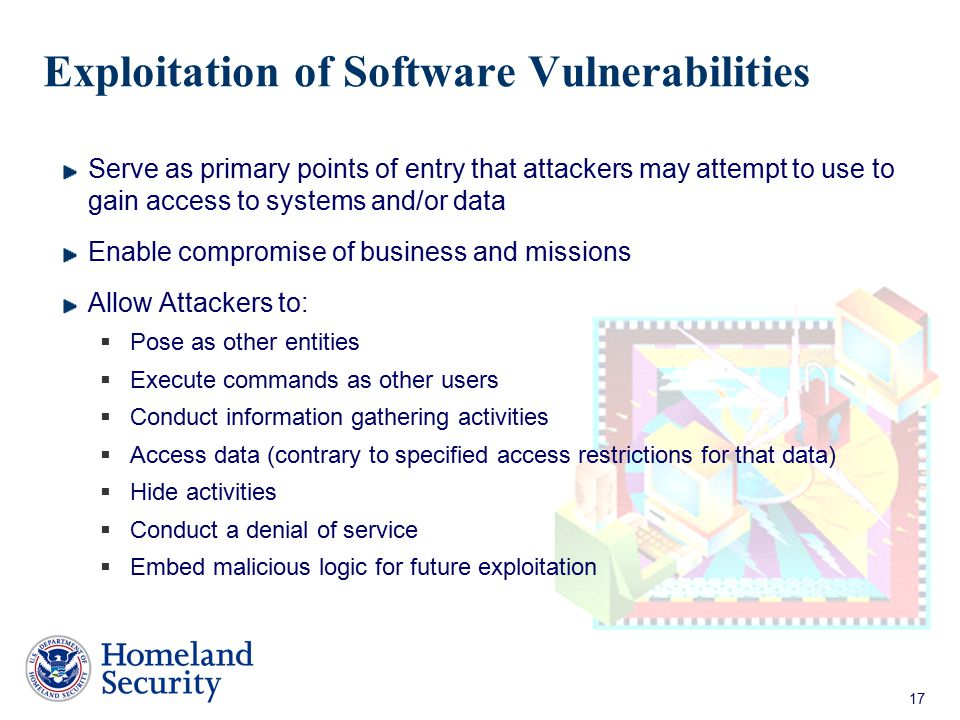 Exploitation of Software Vulnerabilities