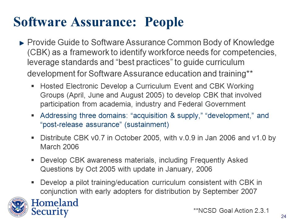 Software Assurance: People