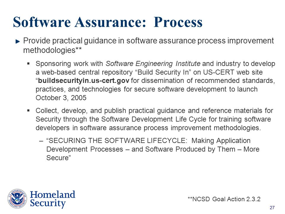 Software Assurance: Process