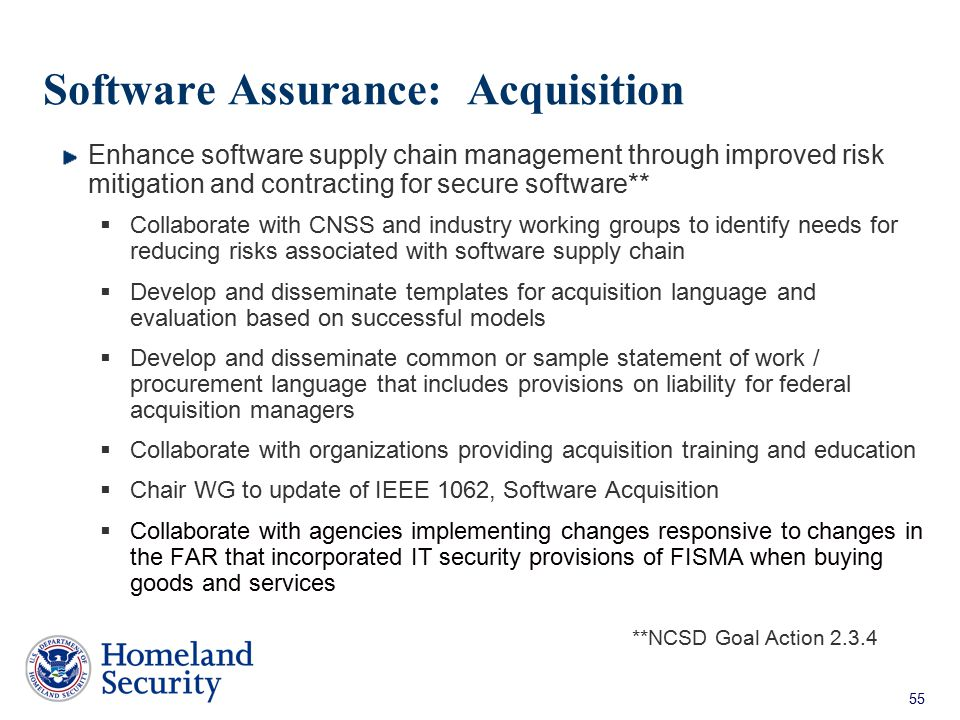 Software Assurance: Acquisition