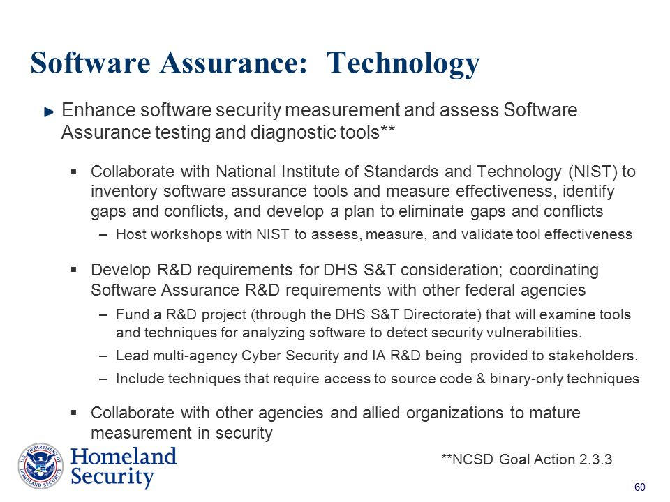 Software Assurance: Technology
