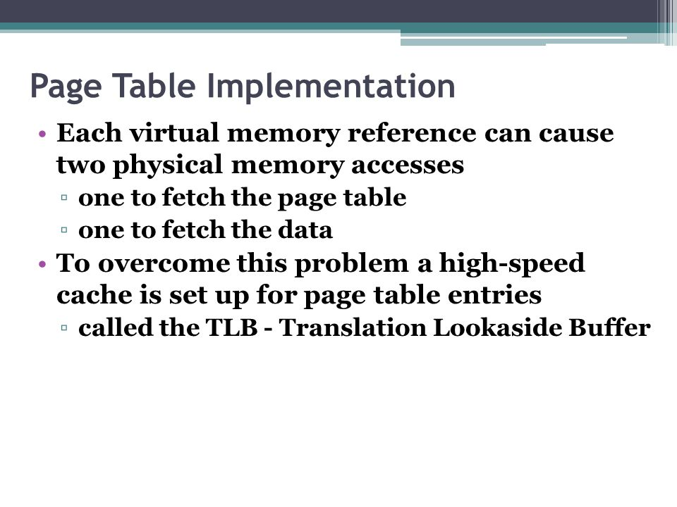 Page Table Implementation
