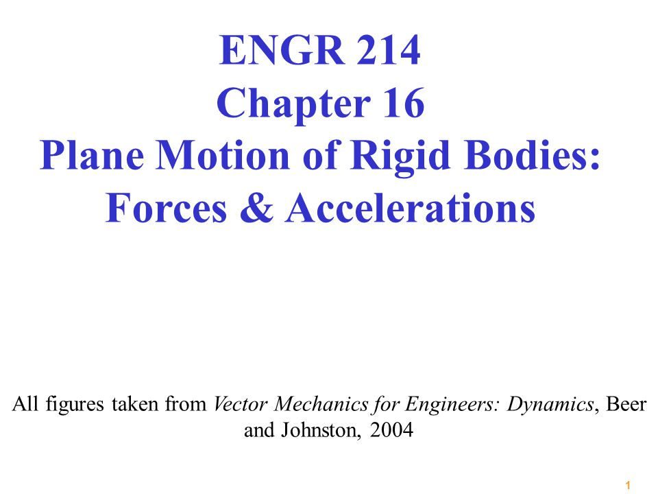 ENGR 214 Chapter 16 Plane Motion of Rigid Bodies: