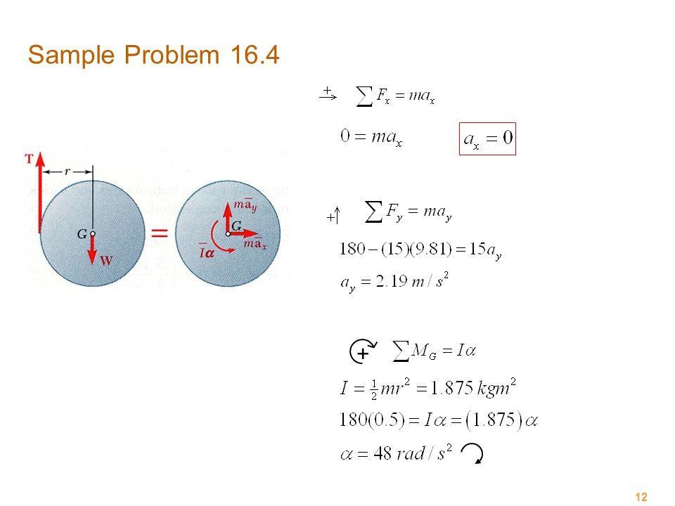 Sample Problem 16.4 +