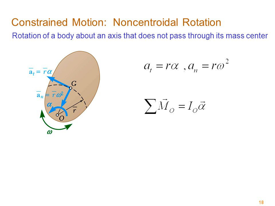 Constrained Motion: Noncentroidal Rotation