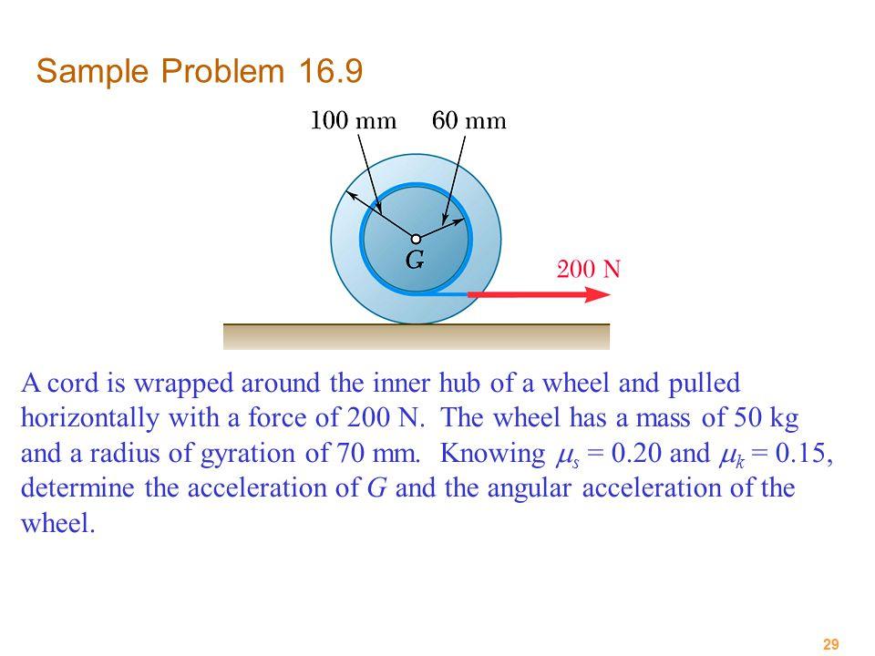 Sample Problem 16.9